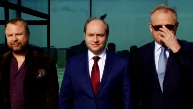 russian minister for development of far east alexander galushka on friday april 24 paid a visit to north korea for talks on trade, economy and... - minister clergy stock videos & royalty-free footage