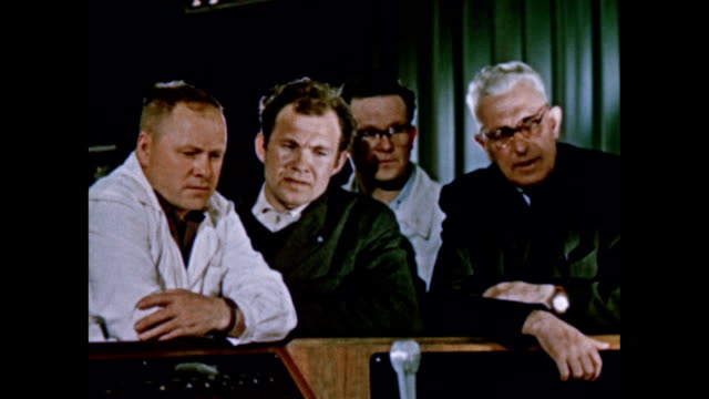 russian mission control monitors the voskhod 2 mission - 1965 stock videos & royalty-free footage