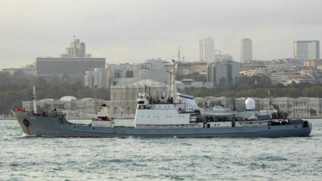 A Russian naval spy ship on Thursday sank in the Black Sea off Turkey's coast after hitting a Togo flagged vessel packed with livestock but all of...