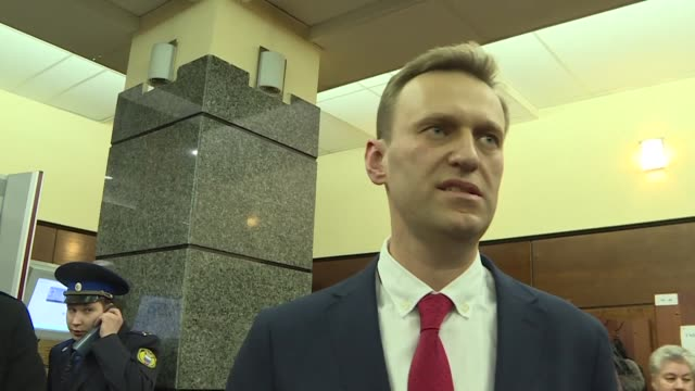 Russian opposition leader Alexei Navalny urges voters to boycott the country's presidential ballot in March 2018 after election bosses barred him...