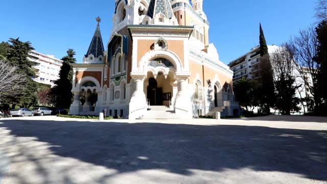 vidéos et rushes de cathédrale orthodoxe russe de nice, france - fédération de russie