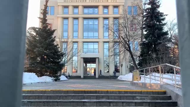 russian police on tuesday, feb. 2, increased the security measures against possible protests of the supporters of the opposition politician alexey... - hanging execution stock-videos und b-roll-filmmaterial