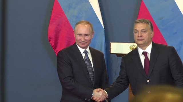 russian president vladimir putin and hungarian prime minister viktor orban cement closer ties at talks amid growing eu rifts over sanctions against... - eastern european culture stock videos & royalty-free footage
