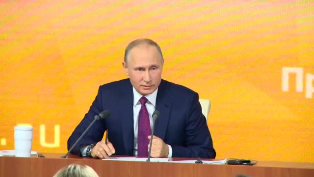 Russian President Vladimir Putin kicks off an annual press conference his first major public appearance since announcing he would seek a new six year...