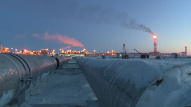 Russian President Vladimir Putin launches a $27 billion liquefied natural gas plant in the snow covered plains of the Arctic as Russia hopes to...