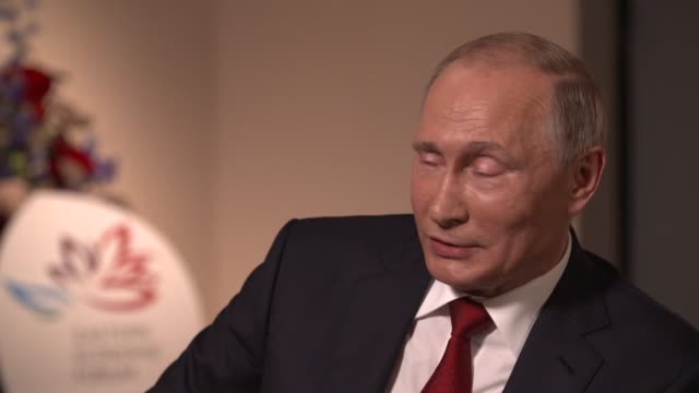 russian president vladimir putin sat down for a rare interview with bloomberg editorinchief john micklethwait the almost twohour conversation in the... - wladimir putin stock-videos und b-roll-filmmaterial
