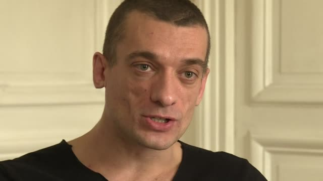 russian protest artist piotr pavlensky says he must defend his source after a sex video was posted on a site he opened showing a man masturbating... - benjamin griveaux stock videos & royalty-free footage