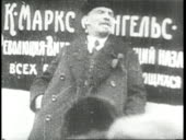 Russian revolutionary vladimir lenin delivers a speech at a rally video id663402733?s=170x170