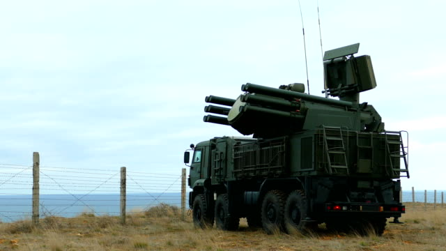 russian self-propelled anti-aircraft missile-gun system - authority stock videos & royalty-free footage