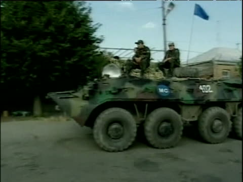 russian soldiers in armoured personnel carrier and on foot south ossetia - armoured personnel carrier stock videos & royalty-free footage