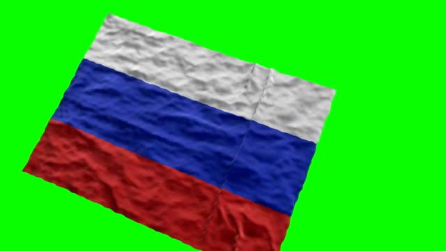 vídeos y material grabado en eventos de stock de bandera estadio ruso. saludando en pantalla verde - ruso europeo oriental