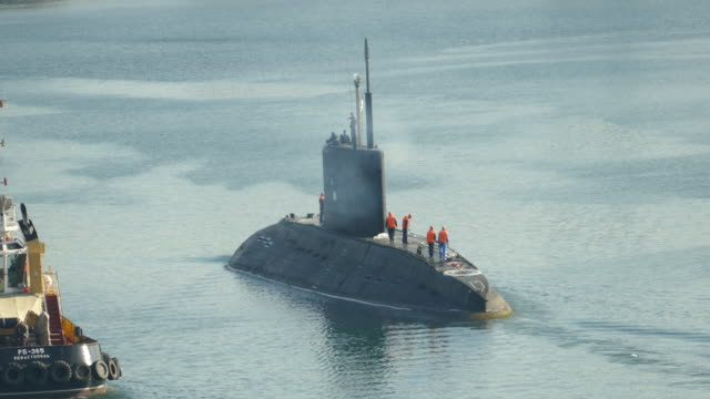 russian submarine out to sea - submarine stock videos and b-roll footage