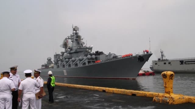 A Russian warship docks in Manila in a visit aimed at boosting ties between the nations as Philippine President Rodrigo Duterte pivots his nation's...