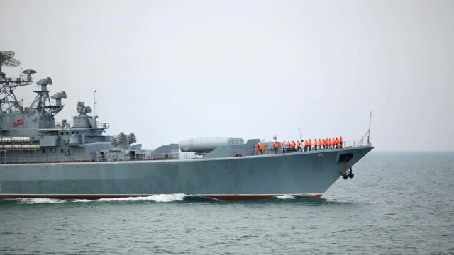 russian warship - convoy stock videos and b-roll footage
