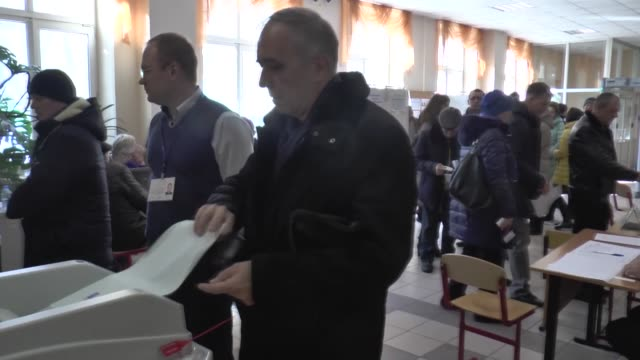 russians went to the polls on sunday to vote for a new presidentnearly 11 million voters are expected to choose a president from among eight... - vladimir russia stock videos and b-roll footage