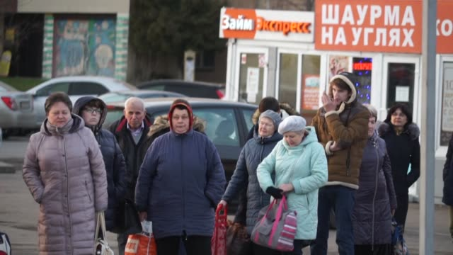 russians whose real disposable incomes have been falling since 2014 are borrowing more and more to support their businesses and lifestyle or even... - russian ethnicity stock videos & royalty-free footage