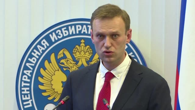 russia's central election commission on monday unanimously rejected top opposition figure alexei navalny's bid to run against president vladimir... - bid stock videos & royalty-free footage
