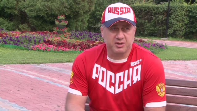 vídeos de stock, filmes e b-roll de russia's olympic wrestling team coach expresses his relief at the international olympic committee's decision not to impose a blanket ban on russia... - rio russian
