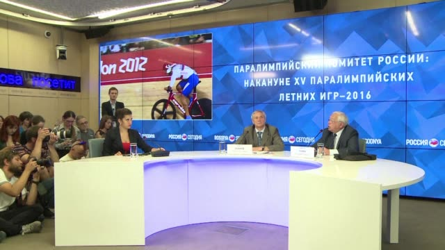 vídeos de stock, filmes e b-roll de russia's paralympic committee vows to fight its ban from the rio games over state sponsored doping and insists it is committed to fighting the use of... - rio russian