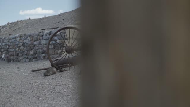 Rusted wagon wheels