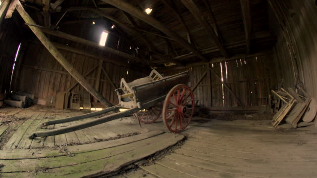 rustic cart in abandoned barn - cart stock videos & royalty-free footage