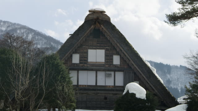 Rustic home in Shirakawa, low angle