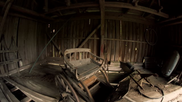 rustic horse drawn carriage abandoned - cart stock videos & royalty-free footage