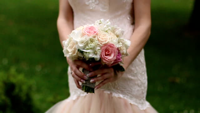 rustic wedding bouquet - bouquet stock videos and b-roll footage