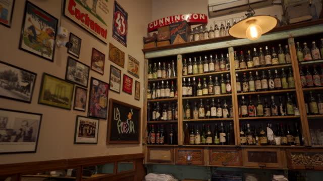 rustic wine shelf in restaurant - rustic stock videos & royalty-free footage