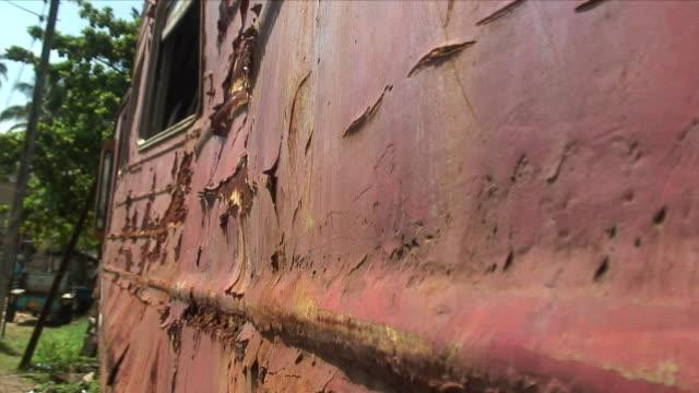 cu rusty automobile / ambalangoda, sri lanka - imperfection stock videos and b-roll footage