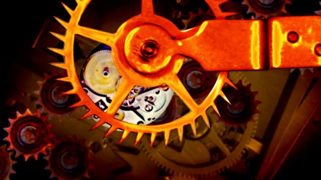 rusty gears in perpetual motion hd loop - perpetual motion stock videos & royalty-free footage