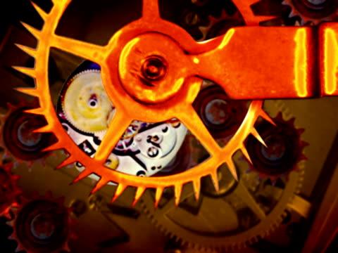 rusty gears in perpetual motion ntsc loop - perpetual motion stock videos & royalty-free footage