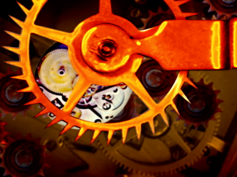 rusty gears in perpetual motion pal loop - perpetual motion stock videos & royalty-free footage