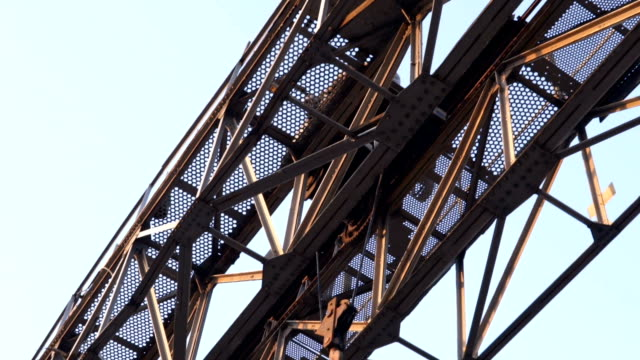 rusty metal construction high up - weathered stock videos & royalty-free footage