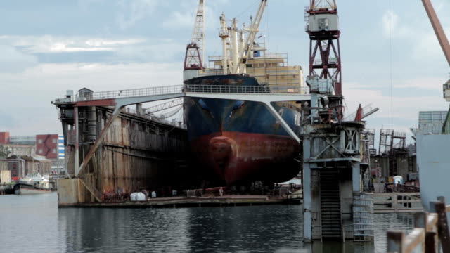 rusty ship in a harbor - imperfection stock videos & royalty-free footage