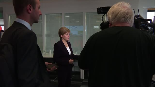 ruth davidson steps down as scottish conservative leader; scotland: edinburgh: int nicola sturgeon msp speaking to press nicola sturgeon msp... - nicola sturgeon stock videos & royalty-free footage