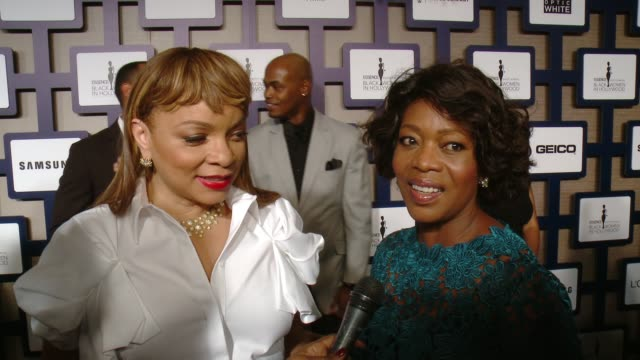ruth e. carter, alfre woodard on being honored, on camaraderie at luncheon, why it's important that essence honors black women in hollywood every... - アルフレ・ウッダード点の映像素材/bロール