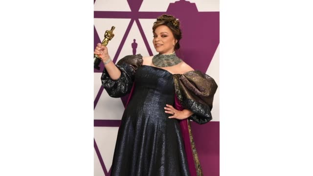 Ruth E Carter winner of Best Costume Design for 'Black Panther' poses in the press room during at Hollywood and Highland on February 24 2019 in...