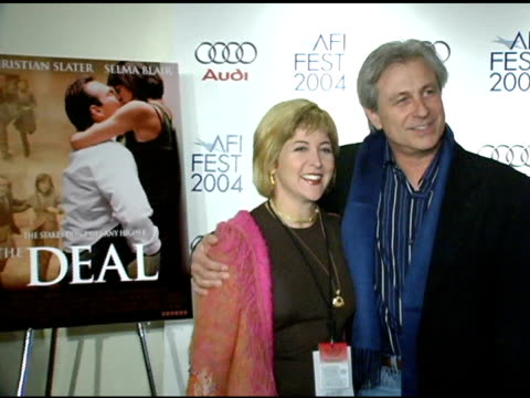 ruth epstein, screenwriter/producer and harvey kahn, director/producer at the 2004 afi film festival 'the deal' premiere arrivals at arclight cinemas... - 脚本家点の映像素材/bロール