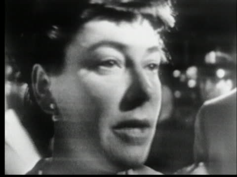 ruth roman discusses the lack of panic during the collision of the andrea doria and the stockholm. - music or celebrities or fashion or film industry or film premiere or youth culture or novelty item or vacations stock videos & royalty-free footage
