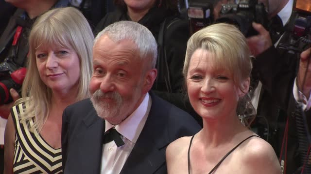 Ruth Sheen producer Georgina Lowe director Mike Leigh Lesley Manville and Jim Broadbent at the Another Year Premiere Cannes 2010 Film Festival at...