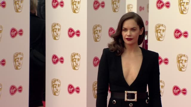 ruth wilson poses for photos on red carpet at bafta tv awards 2019 at royal festival hall, london - red carpet event stock videos & royalty-free footage