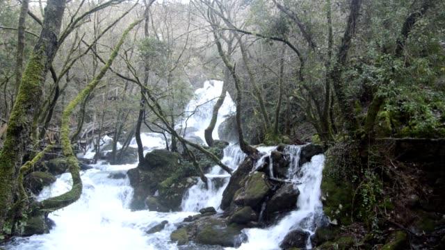 vídeos y material grabado en eventos de stock de ruxidoira cascades - galicia