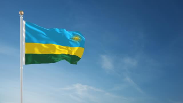 4k rwanda flag - loopable - flag stock videos & royalty-free footage