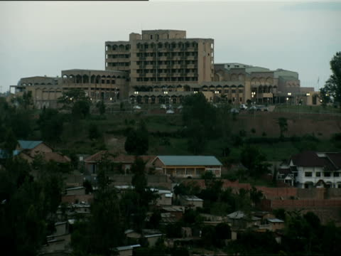 ws rwanda parliament building on hill / kigali, rwanda - parliament hill stock videos & royalty-free footage