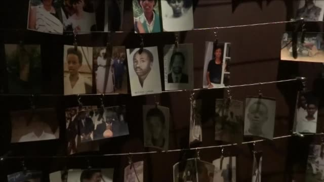 rwanda which has staged a remakable recovery in the two decades since 1994 genocide has put its genocide memorial on the tourist circuit clean... - völkermord stock-videos und b-roll-filmmaterial