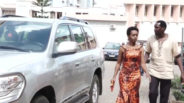 rwandan dissident politician diane rwigara celebrates her acquittal with her mother and other supporters - diane rwigara stock videos and b-roll footage