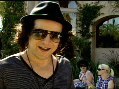 ryan cabrera on why he enjoys coachella the dkny party and being an american idol fan at the dkny jeans coachella retreat house on april 28 2007 - american idol stock videos and b-roll footage