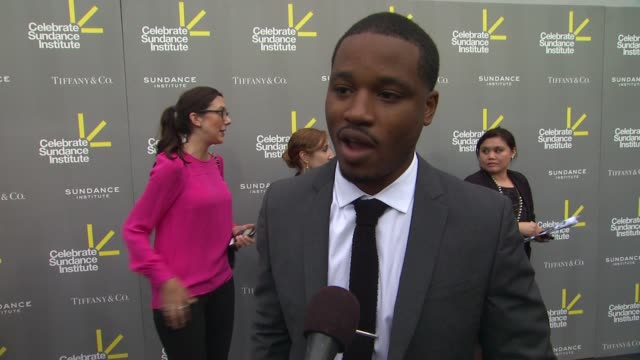 interview ryan coogler on recieving the vanguard award and what it means to him on how this year has been for him after this year sundance festival... - ryan coogler stock videos and b-roll footage