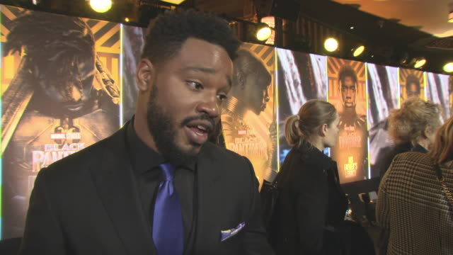interview ryan coogler on the reactions to the film the importance of making the film and telling the story working with a great crew at 'black... - ryan coogler stock videos and b-roll footage